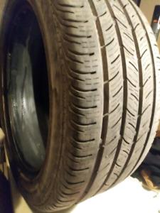 1 pneu d'ete 255/45R18 CONTINENTAL en bonne condition