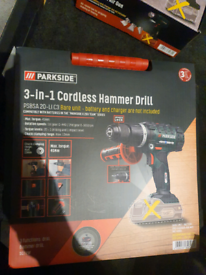 New Parkside 20V Cordless Impact Driver drill 3in1 hammer screwdriver