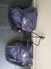 Panniers and rack