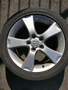 "4 Summer Tires with 17"" 2005 Mazda 3 Rims"