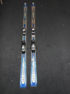 Volkl Skis - Parabolic with Rossignol Bindings