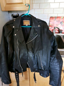 Men's Genuine Leather Motorcycle Jacket $40