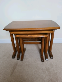 Ercol nest of 3 stacking tables