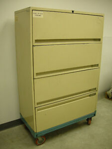 LARGE METAL OFFICE FILE FILING CABINET 59x36x18 RETAILS $400