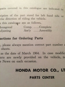 1964 Honda 90 C200 Parts List Regina Regina Area image 4