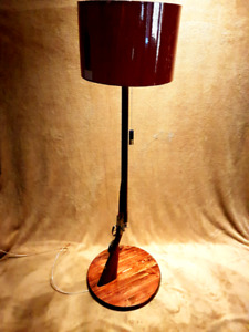 Handmade shotgun floor lamp
