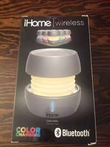 iHome Wireless Bluetooth Speaker - NEW- Colour Changing