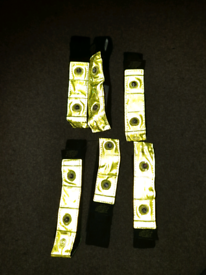 6 x Safety cycling reflective and flashing light straps