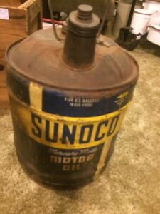 Sunoco oil can 5 us g antique
