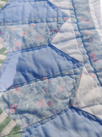 Hand stitched quilt. Free to view anytime