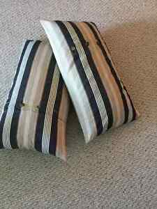 Striped indoor or outdoor cushions