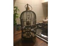 Antique ornamental brass bird cage