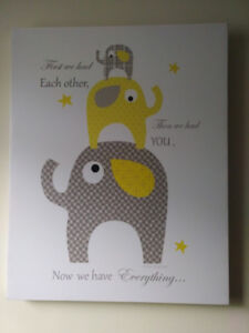 Nursery decor elephant picture