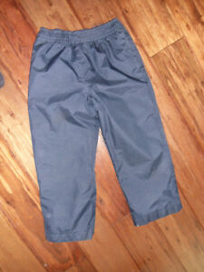 size 4 navy blue lined waterproof pants