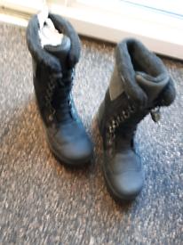 Black boots.Size 8.5