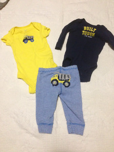 Boys 3 month Carters 3 piece outfit