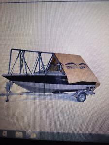 toile / abri pour  bateau . marque igloo 18 pi  x 26 pi