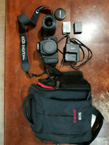 Canon T3i camera with 18-55mm lense