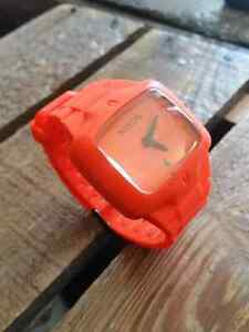 Unisex Nixon The Rubber Player(Orange) watch in 10/10 condition.