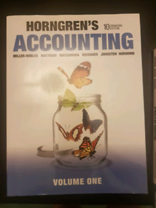 Horngren's accounting 10th edition canada book.