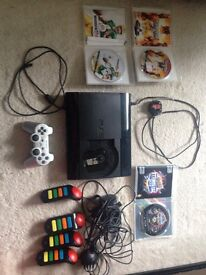 Playstation 3 in excellent condition, with one controller and 3 games.