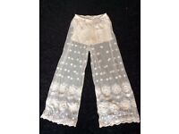 WHITE GLAMOROUS SUMMER TROUSERS