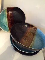 Pier one decorative dining ware bowl platter plates