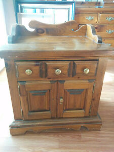 Beautiful Solid Wood Antique Dresser & bed side cabinet