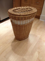 Ikea Wicker Laundry Basket with Liner