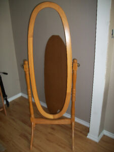 Cheval Tilting Oval Mirror / Frame