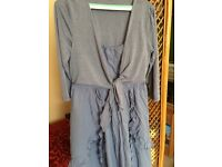 Joe browns 14 dress lagenlook hippy boho blue