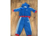 Boys adidas tracksuit size 9-12 months