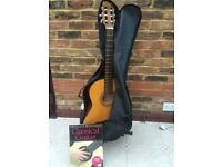 Classic Guitar, Beginners book, Case and Stand
