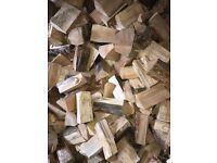 Kiln dried hard wood logs truck load