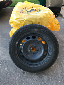 """4 x Continental Used 16"""" Winter Tires on Rims"""