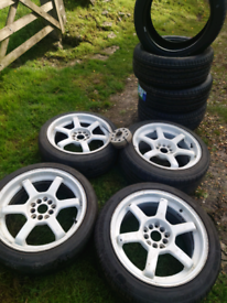 17 alloys for sale with 4 brand new tyres