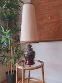 Vintage Mid Century ceramic base light with lampshade