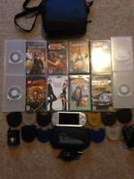 Silver PSP along with 9 games and 3 movies