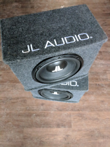 Pair of JL Audio Sealed BassWedge woofers