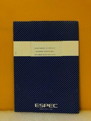 Espec Platinous G Series Non-standard Voltage Specification Instruction Manual