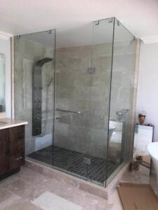10mm Tempered Glass Shower Doors & Stair & Mirror