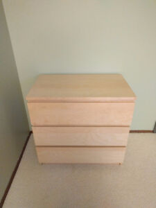 Ikea Malm 3 drawer dresser