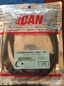 Brand new S-Video Cable 6ft Mini Din 4 Male to Male