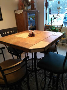 WROUGHT IRON TABLE AND CHAIRS FOR SALE