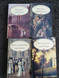 Jane Austen & Charles Dickens books (4)