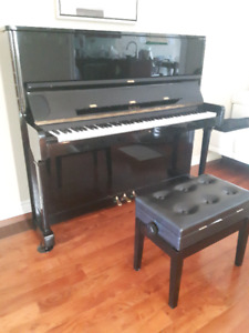 PETROF Upright Piano with Matching Bench