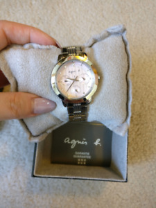 AGNES B women's watch stainless steel (BRAND NEW)