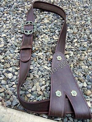 JACK SPARROW baldric belt + buckle costume GEN LEATHER