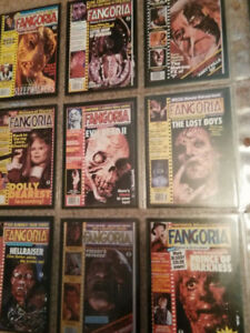 Rare Fangoria trading cards lot of 89 cards excellent condition