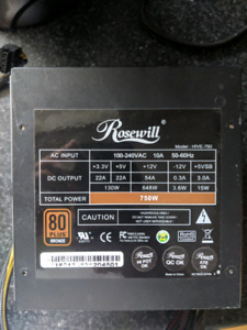 Rosewill Hive 750W power supply $50 obo